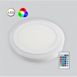 LED PANEL RGB 18W+6W nadgradni okrugli MP18NO-WRGB